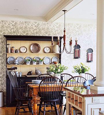 Комбинируем обои на кухне – правила сочетания и идеи