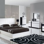 Белая спальня тёмно серые стены